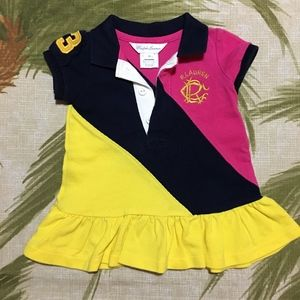 Ralph Lauren Rugby Polo Dress Size 3M